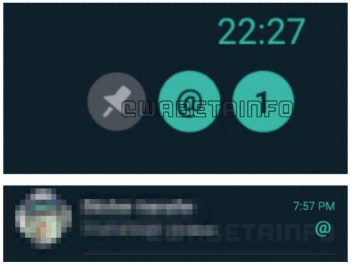 Menciones contador WhatsApp
