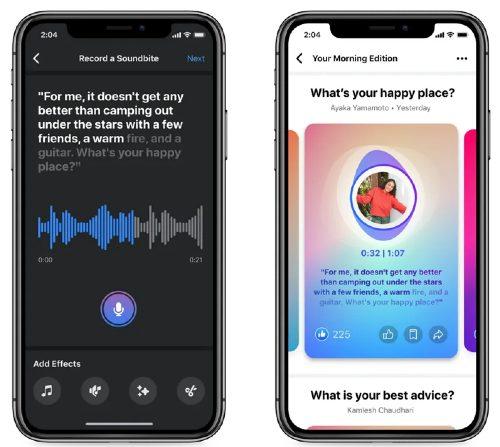 Soundbites app Facebook