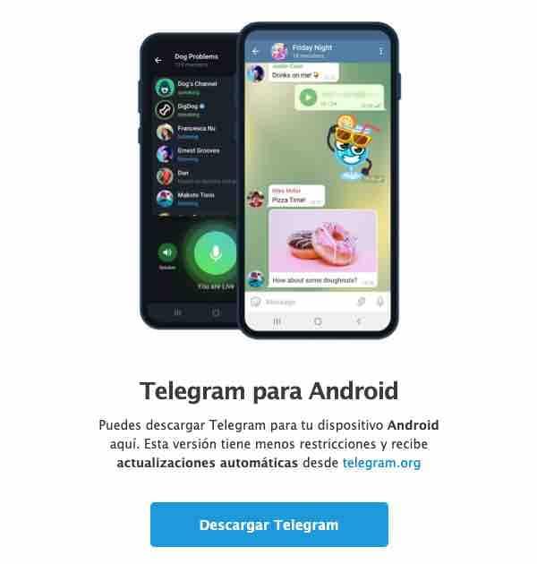 Descarga de la app
