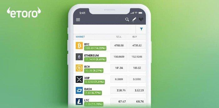 apps para invertir en bolsa, eToro