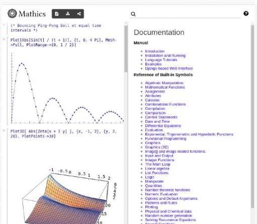 Calculadora científica profesional Mathics
