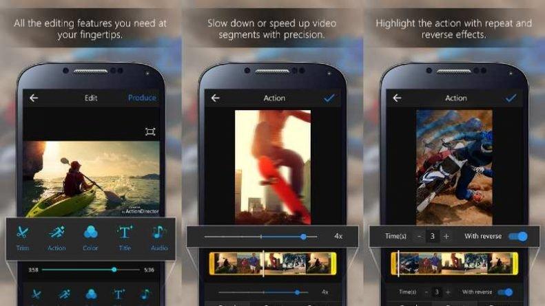 App ActionDirector para editar vídeos