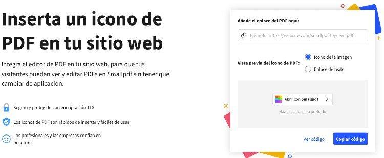 icono pdf en web