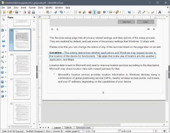 LibreOffice PDF editor de PDF