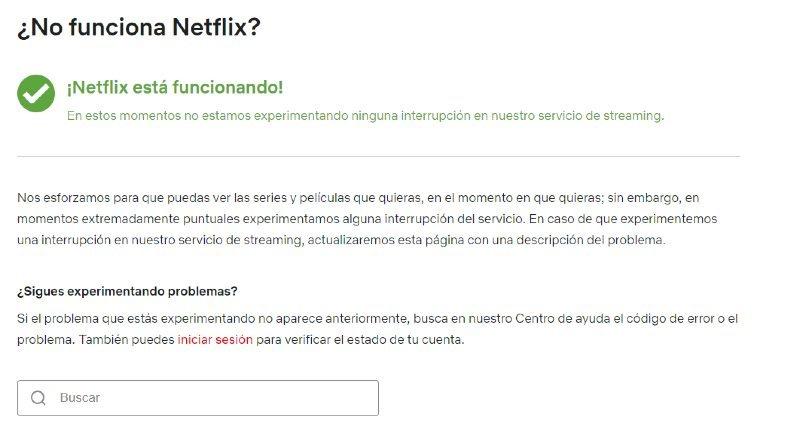 Comprobación de funcionamiento en Netflix