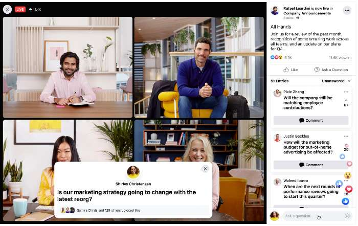 Q&A Facebook Workplace