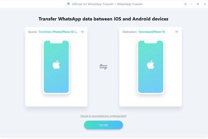 WhatsApp Transfer pantallazo