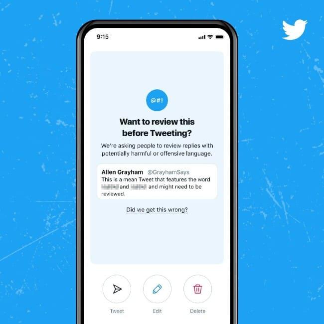 Twitter revisar lenguaje ofensivo