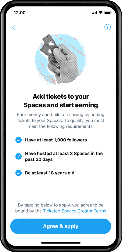 Twitter Spaces pago