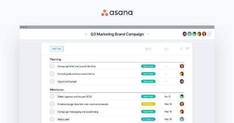 Aplicaciones para gestión de proyectos, Asana