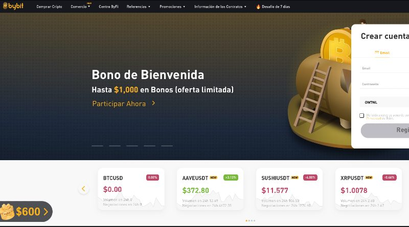 Bybit pantallazo en español
