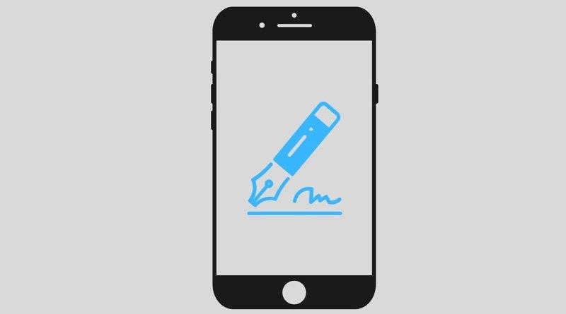 firma en smartphone