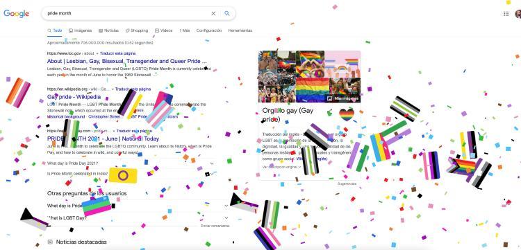 Google sorpresa Orgullo