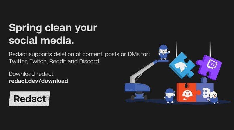 Redact.dev app para eliminar publicaciones