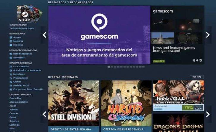 Steam servidor de juegos de PC