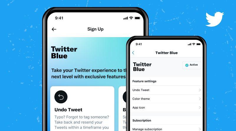 Twitter Blue servicios