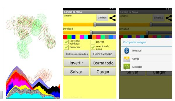 Caja de arena app para colorear