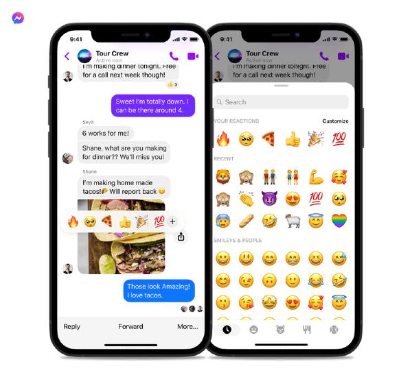 Emojis Facebook Messenger