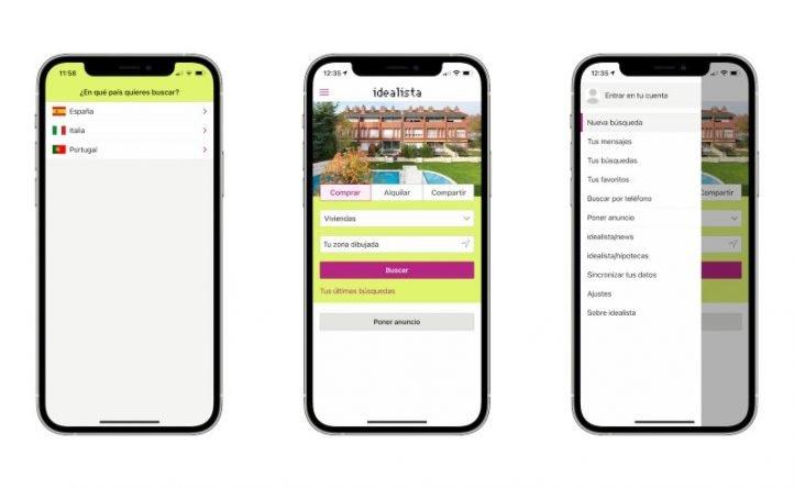 Aplicaciones para alquilar apartamentos en verano, Idealista