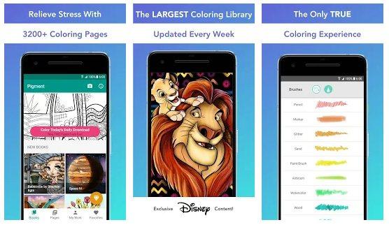 Apps para colorear, Pigment
