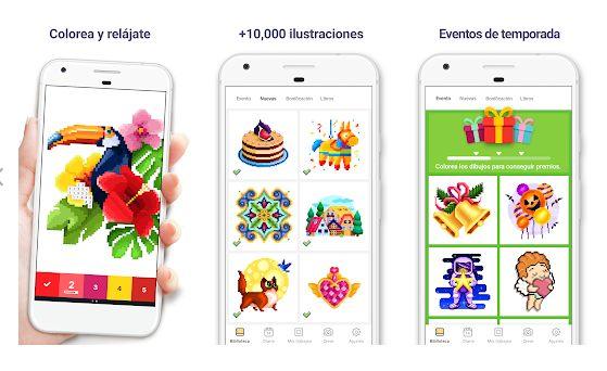 Pixel Art mejores aplicaciones para colorear