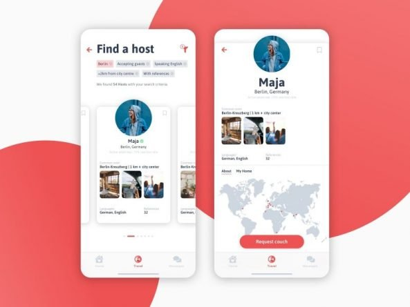 Aplicaciones para alquilar apartamentos Couchsurfing