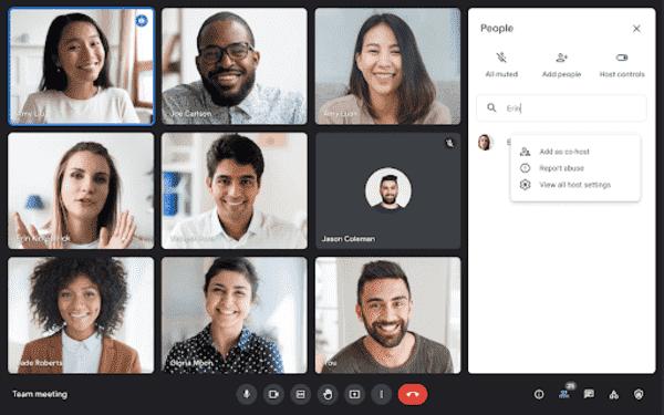 Google Meet cohost