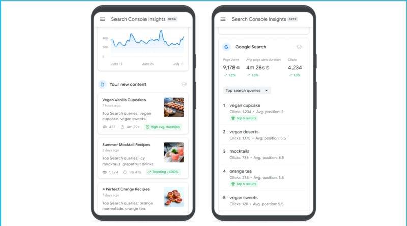 Google Search Console Insights preguntas frecuentas