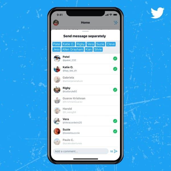 Mensaje Twitter