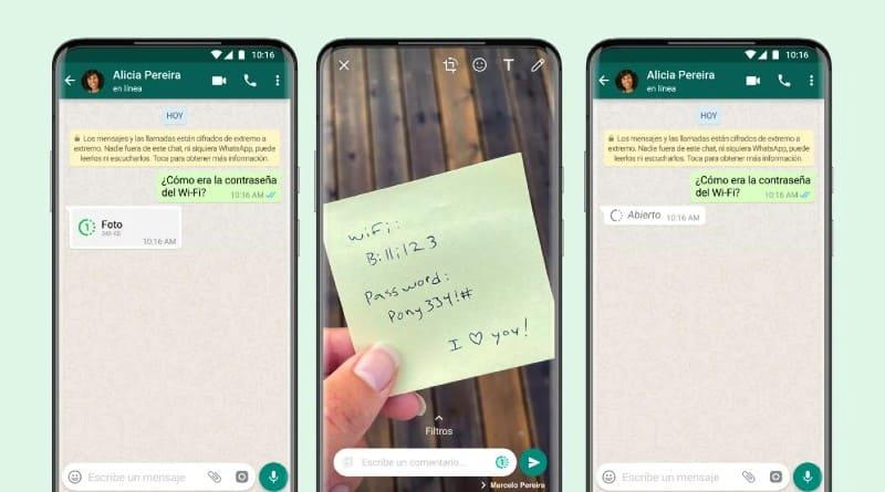Visualizacion unica WhatsApp