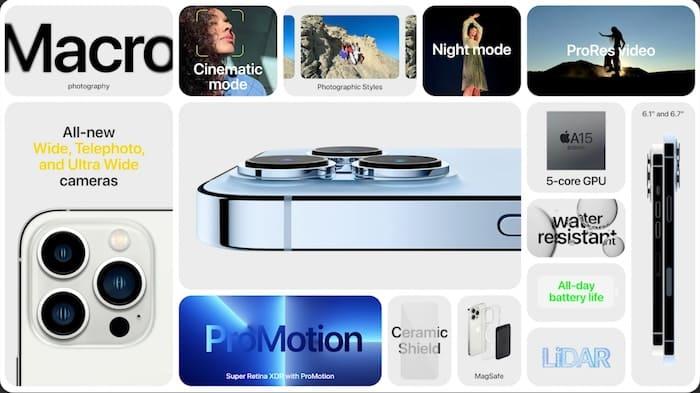características iPhone 13 Pro