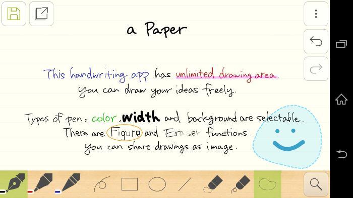 Handwriting Memo, app para escribir a mano en Android