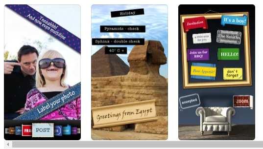 Photo2Text, iOS, ilustración de texto