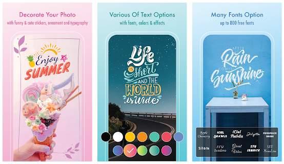 Text Art, app para poner texto en imágenes