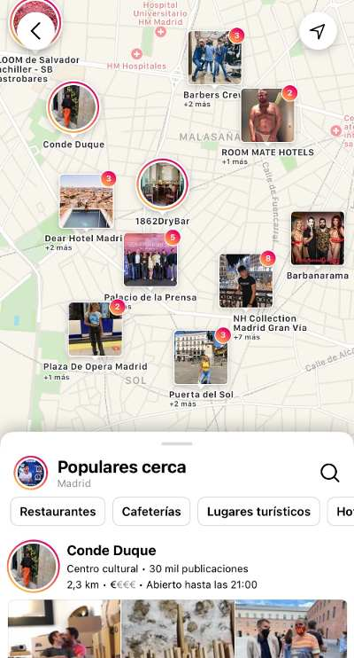 mapa de instagram
