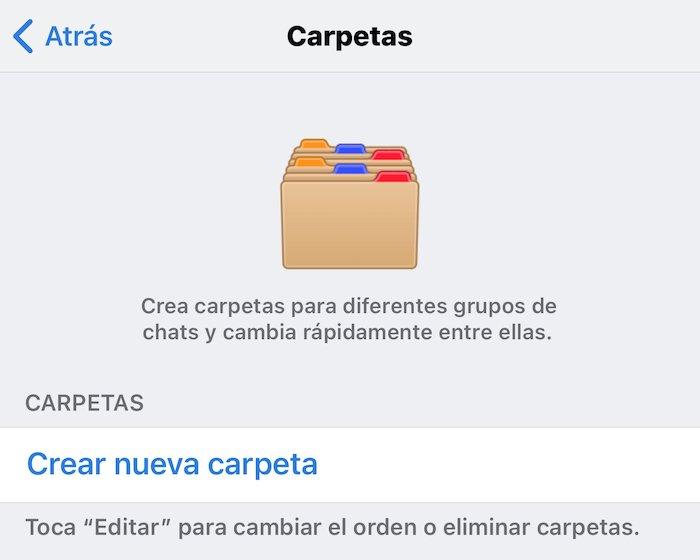 carpetas telegram