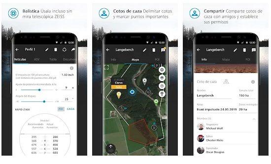 App Android para cazadores